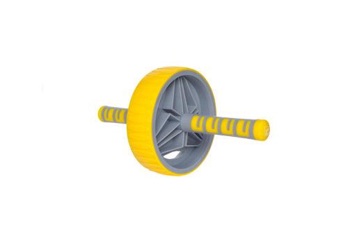 Ролик для пресса 19 см LiveUp желтый
