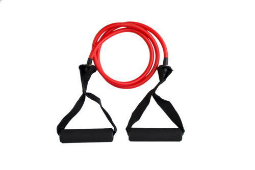 Трубчатый эспандер Band4power красный – среднее сопротивление