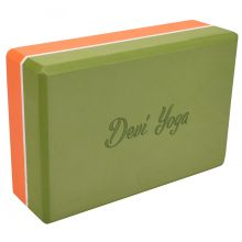Блок для йоги devi yoga оранжево-зелёный