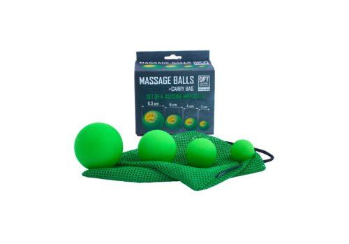 Набор из 4 массажных мячей разноразмерных OFT