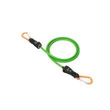 Зеленый трубчатый эспандер Atletika24 с карабинами с сопротивлением 4 кг