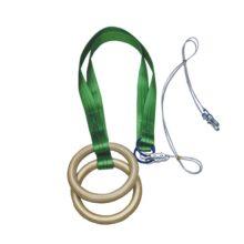 Кольца гимнастические ZSO ПРОФ с наружным диаметром 235 мм (23,5 см)