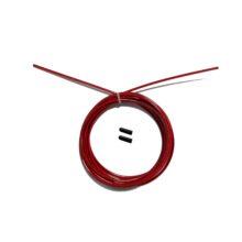 Тросик для скакалки original fit tools с заглушками красный