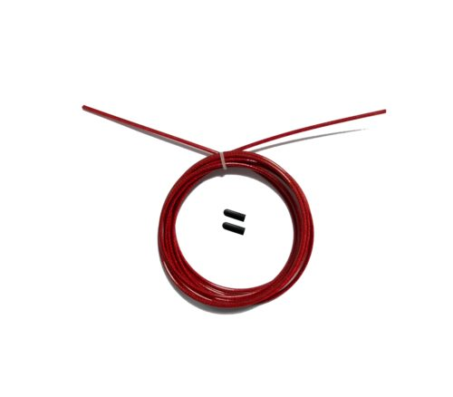 Тросик OFT для скакалки с заглушками, красный